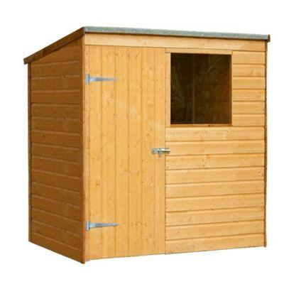 4 x 6 Rock Shiplap Pent Shed Garden Wooden Shed 4ft x 6ft (1.22m x 1.83m)
