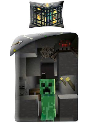 Minecraft Creeper Single Duvet Cover Set - European Size