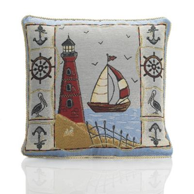 Alan Symonds Tapestry Lighthouse Cushion Cover - 45x45cm