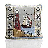 Alan Symonds Tapestry Lighthouse Cushion Cover - 45x45cm