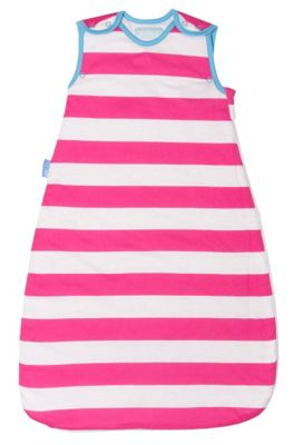 Grobag Baby Sleeping Bag - Magenta Ribbons 1.0 Tog (6-18 Months)
