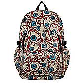 Chok Zombie Eye Repeat Print Backpack