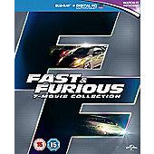 Fast & Furious 1-7 [Blu-ray] [2015]