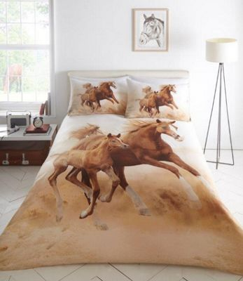 Galloping Horses duvet cover and pillowcase set - single
