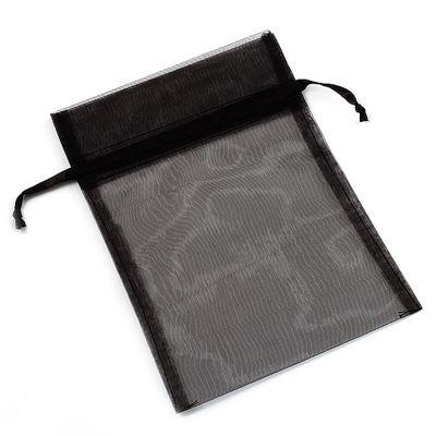 Organza Drawstring Pouch 15x20cm - Black