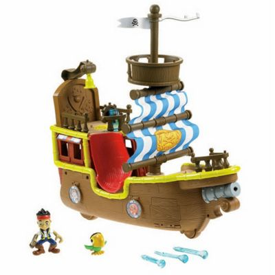 Fisher-Price Disney Jake And The Neverland Pirates- Jake's Musical Pirate Ship Bucky