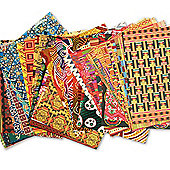 Ethnic Paper Craft Pack for Children/Adults to Decorate and Embellish Multicultural Collage Scrapbooking Art Projects (Pack of 96)