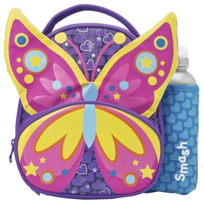 Smash Butterfly Lunch Bag and Water Bottle Set