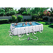 Bestway 18X9X48 Power Steel Frame Swimming Pool Set