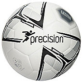 Precision Rotario Match Football - White/Black/Silver Size 4
