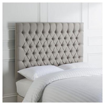 buy henley double upholstered headboard, grey from our headboards, Headboard designs