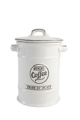 T&G Woodware Pride of Place Coffee Storage Jar in White 18075