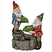 Gnome Garden Water Fountain - Multi-coloured