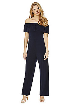 AX Paris Ruffle Detail Jumpsuit - Navy