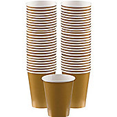 Gold Coffee Cups - 340ml Paper Cups - 40 Pack