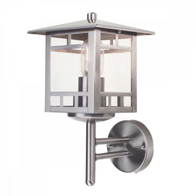 Stainless Steel Wall Lantern - 1 x 100W E27
