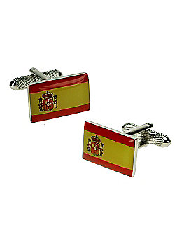 Spanish Flag Novelty Themed Cufflinks