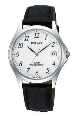 Pulsar Gents Leather Strap Watch PXH565X1