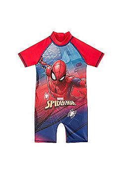 Marvel Comics Boys Surf Suit - Red & Blue