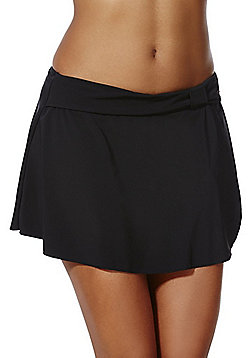 F&F Shaping Swimwear Skirted Bikini Briefs - Black