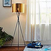Versanora Tripod Floor Standard Lamp Gold Shade Modern Lighting VN-L00001