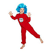Dr Seuss Thing 1 and 2 Dress-Up Costume - Red