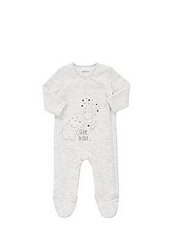 F&F Embroidered Elephant Sweatshirt All in One - Marl grey