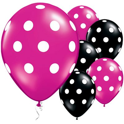 Big Polka Dots 11 inch Latex Balloons - 25 Pack