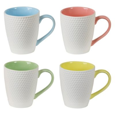 DRH BIA Geo Mugs, Multi-Coloured, Set of 4 993002G+1647