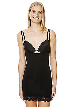 F&F Magic Wear Your Own Bra Slip - Black