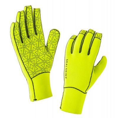 SealSkinz Neoprene Gloves Yellow/Black Size: L