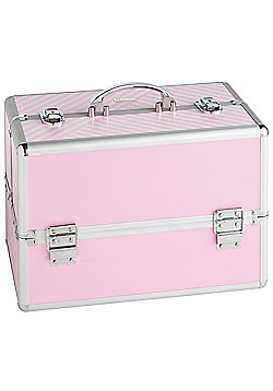 Beautify Large Pink Beauty Cosmetics Make Up Case