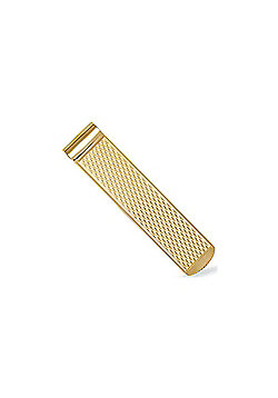 Jewelco London 9ct Solid Gold Money Clip with Diamond cut criss cross pattern