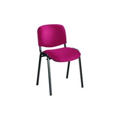 Jemini Ultra Multi-Purpose Stacking Chair Black Legs/Claret KF03345