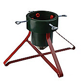 Harbour Housewares Christmas Tree Stand, Metal Frame - Red & Green