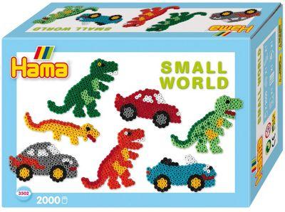 Hama Small World Dinosaur and Car Gift Box