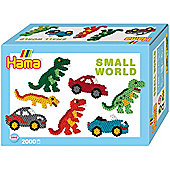 Hama Small World Dinosaur and Car Gift Box