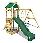 Wooden Climbing Frame Wickey FreeFlyer With Green Slide