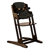 BabyDan DanChair High Chair Walnut With Black Cushion