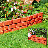 4 x Terracotta Instant Brick Effect Hammer in Garden Lawn Edging