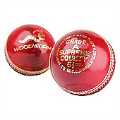 6 X Woodworm Supreme Country 5 1/2Oz Cricket Balls Red
