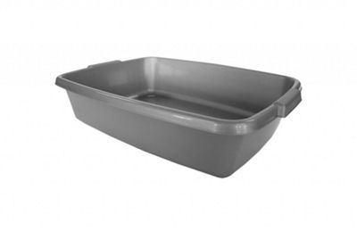 Thumbs Up Deluxe Cat Litter Tray - Silver - 43cm Wide x 9.5cm High x 31cm Deep