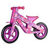 RideStar Camo Wooden Balance Bike - Pink
