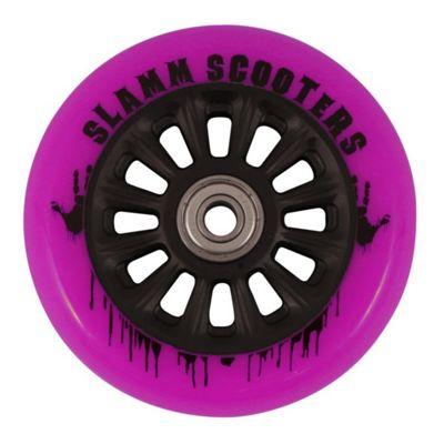 Slamm 100mm Nylon Core Wheel + Bearings - Black / Pink