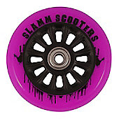 Slamm 100mm Nylon Core Wheel + Bearings - Black / Pink