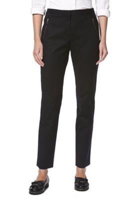 F&F Slim Fit Ankle Grazer Trousers Black 16