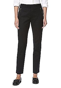 F&F Slim Fit Ankle Grazer Trousers - Black