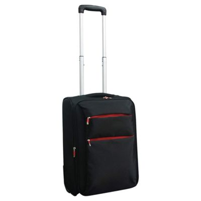 Tesco 2-Wheel Ultra Lightweight Suitcase, Black Small