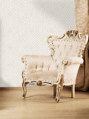 Opus Geo Sequins Wallpaper Cream Holden Decor 35561