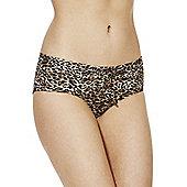 Marie Meili Arizona Animal Print Bikini Shorts - Brown